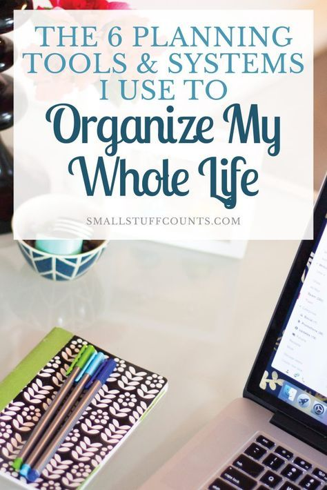 These are hands-down the top 6 planning tools and systems I use to organize my whole life. I'd be lost without them! They help me keep up with everything, be more productive and stay sane even when life gets crazy. Do you use all of these things to organize your life?