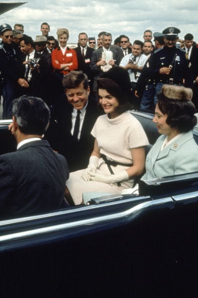 JFK and Jackie during a campaign tour of Dallas, Texas, 1963.