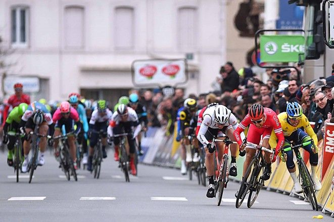 Nacer Bouhanni not winning the stage 2 sprint at Paris-Nice