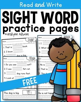 Use these sight word pages to practice reading AND writing sight words! These sight word practice pages are great for morning work, word work, literacy centers, early finishers, extra practice and much more! Send them with your students to practice at home!