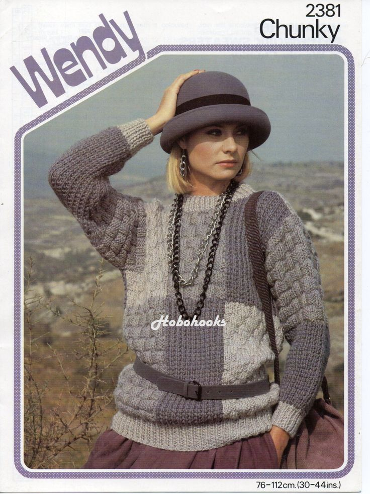 Knitting In The Round Sweater Patterns : Ladies mens chunky patchwork sweater in round or polo