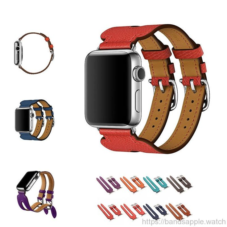 Top layer leather strap Double Buckle Cuff for Hermes iwatch2 Modern fashion design //Price: $98.30 & FREE Shipping //     #nylon #nato #apple #watch #applewatch #ios #band #watchband #strap #applewatches