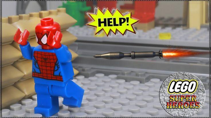 Lego Spiderman vs Lego Hulk: Lego Spiderman vs Hulk Fight Animation Stop...