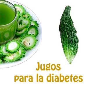 Jugos para la diabetes de melón amargo