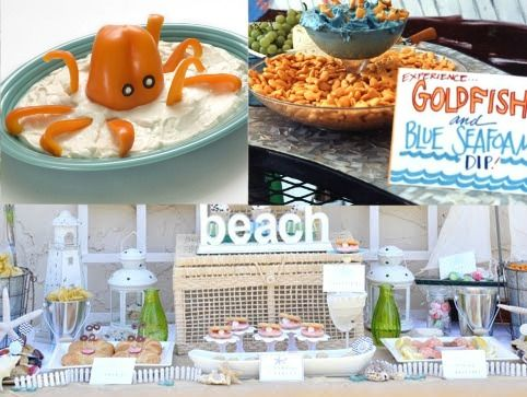 Fun Beach Party Food Ideas... http://www.completely-coastal.com/search/label/Beach%20Party%20Food