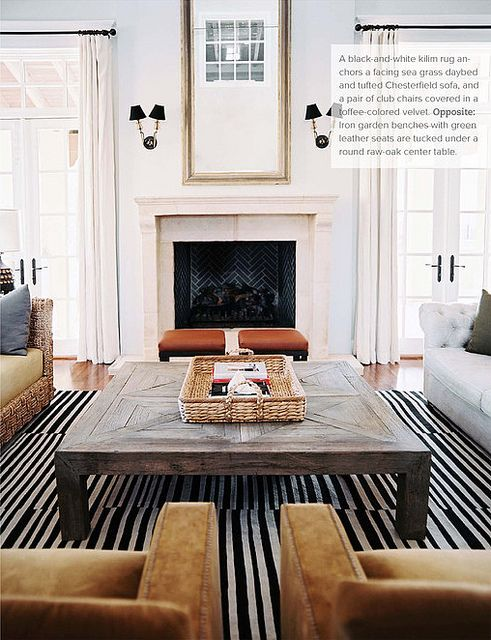 Lauren Gold / Sasha Adler of Nate Berkus Design {eclectic art deco modern living room} by recent settlers, via Flickr