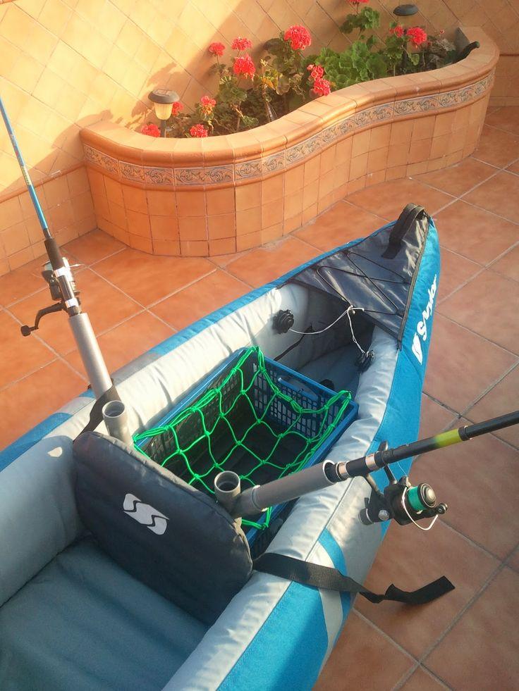 Hilo Y Anzuelo: Soporte para cañas. Cañero kayak.