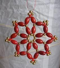 Resultado de imagen de karácsonyi dísz gyöngyből