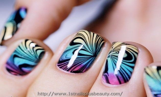 Marble Nail Art Zonder Water Picture