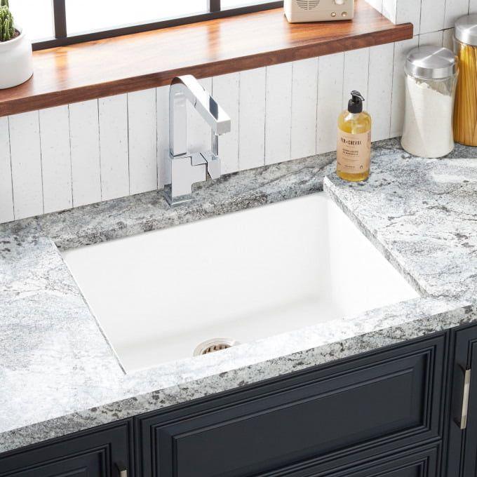 32 Atlas Stainless Steel Undermount Kitchen Sink Gunmetal Black