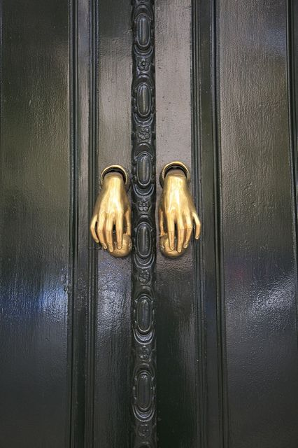 Best Halloween Prank ever!!  Paint hands and put them through a door in place of the knob and grab onto the hands that go to open said door!
