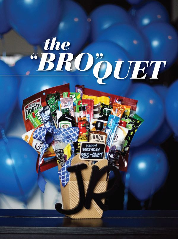 The bro-quet is like a bouquets manly, DIY counterpart. Just like a gorgeous flo