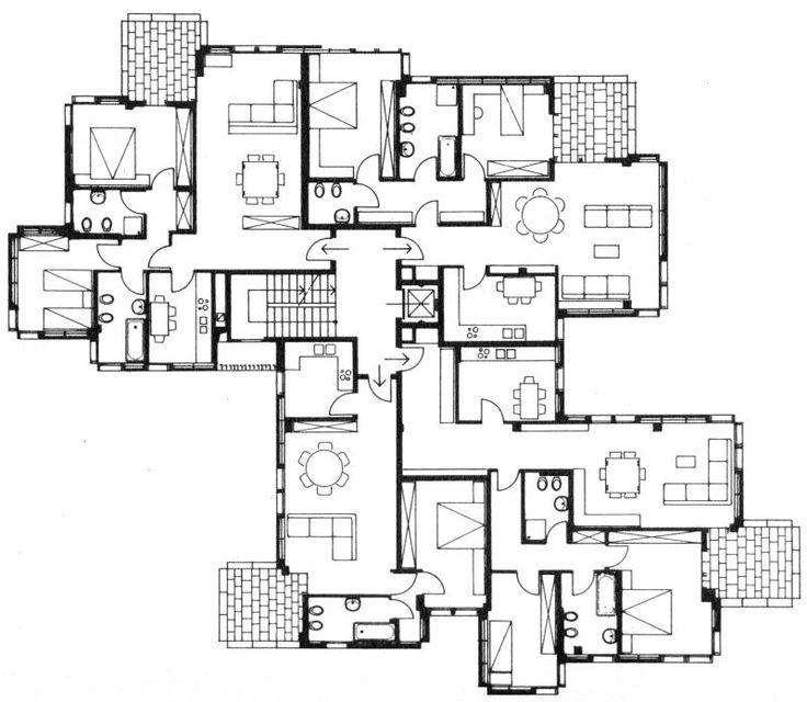 Edificio Per Residenza, Arosio. Angelo Mangiarotti