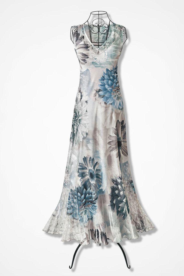 Fountain Bloom Dress by Komarov - Coldwater Creek