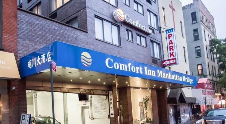 Comfort Inn Manhattan Bridge New York Located in Manhattan's Chinatown area, Comfort Inn is set in a striking building, providing good-value and spacious accommodation. Lively Little Italy and avant-garde SoHo are both a short walk away.