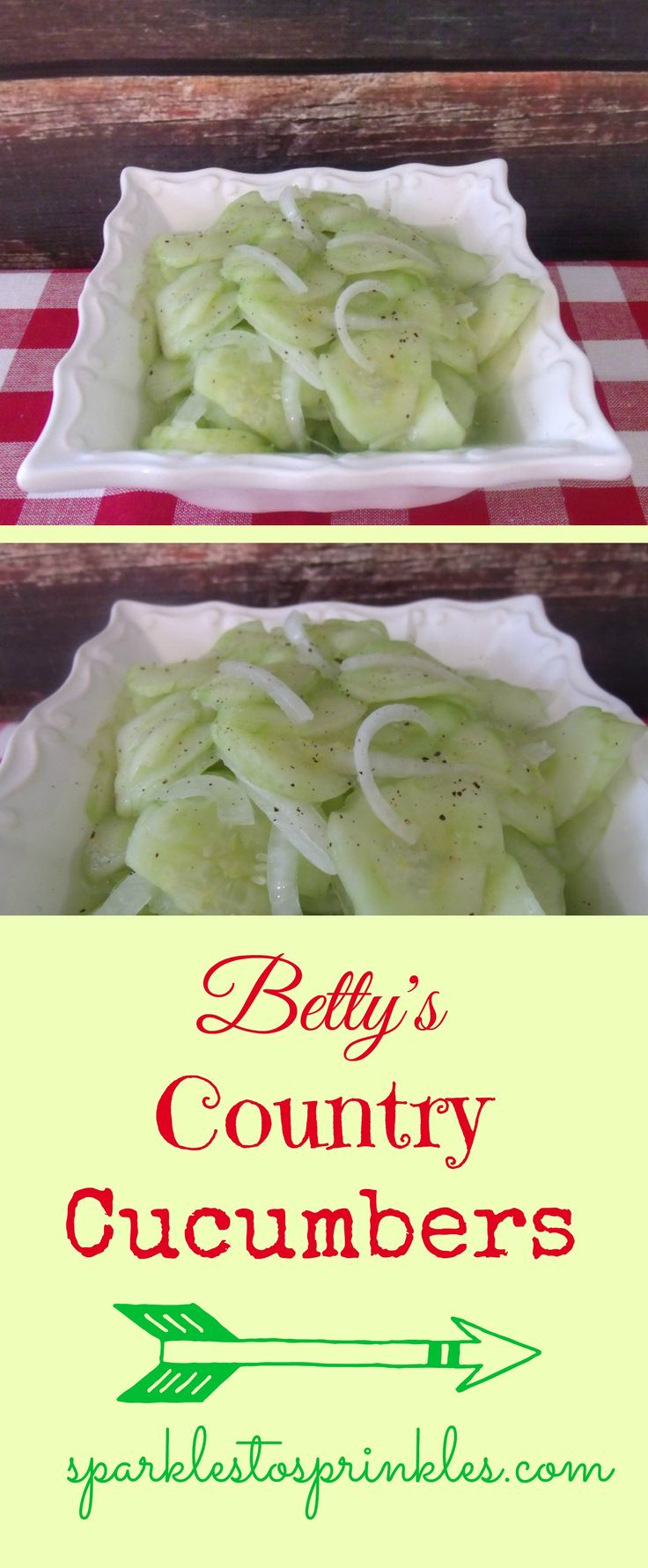 Betty's Country Cucumbers, passed down for many generations. Perfected long ago and absolutely EASY & delish!