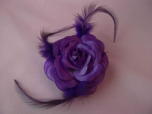 rose feather purple