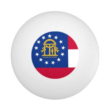 #elegant - #Special ping pong ball with Flag of Georgia