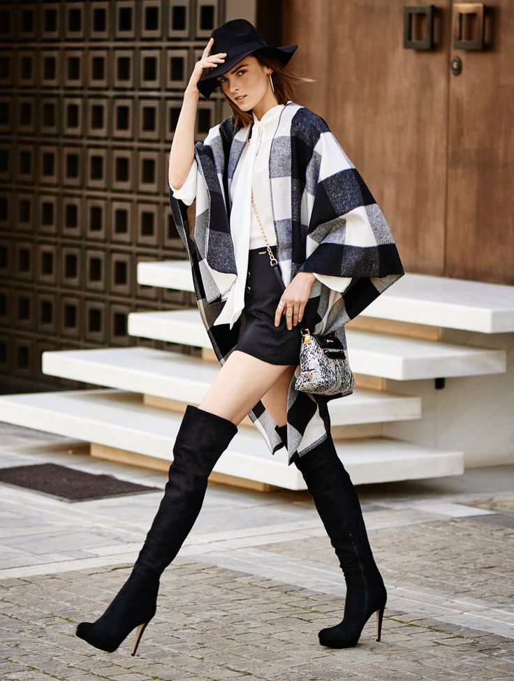 Over knee boots by fullah sugah #streetstyle #fashion #hat