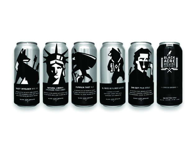 Black Acre Brewing Beer Cans | Design Firm Timber Design Co., Indianapolis; www.timberdesignco.com/ | Creative Team Lars Lawson, art director | Client Black Acre Brewing Company