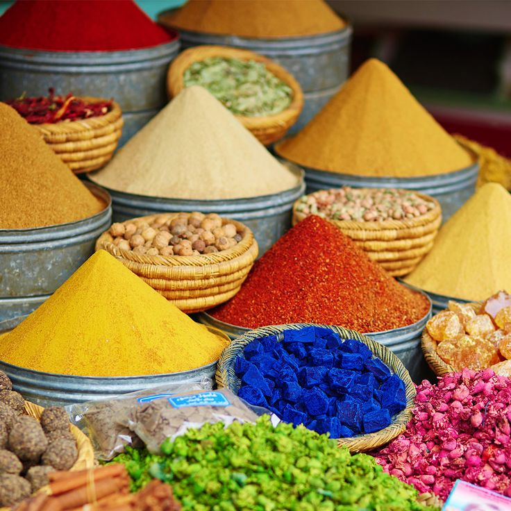 A visit to the local Moroccan market will have your senses succumbing to a world of aromatic and colourful spices. Here you will find some of Africa's most exotic and most prized spices like saffron. Saffron grown in the Taliouine region of Morocco is said to be more valuable than gold itself.