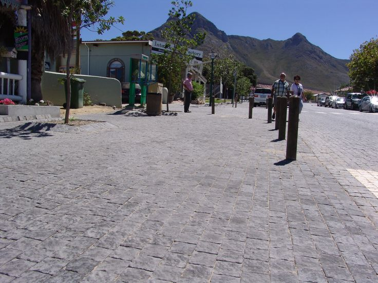 Kleinmond Harbour, Western Cape, South Africa.  Product: Old English Industrial Cobble