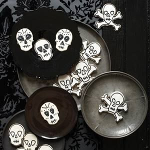 Day of the Dead Cookies (Halloween Sugar Cookies) Cookies:  2 stick(s) unsalted butter, softened 1 cup(s) granulated sugar 2 large egg yolks 1 teaspoon(s) pure vanilla extract 1/2 teaspoon(s) salt 2 1/2 cup(s) all-purpose flour, plus more for rolling More info https://www.facebook.com/photo.php?fbid=10152775311621667&set=oa.1469009030054357&type=3&theater