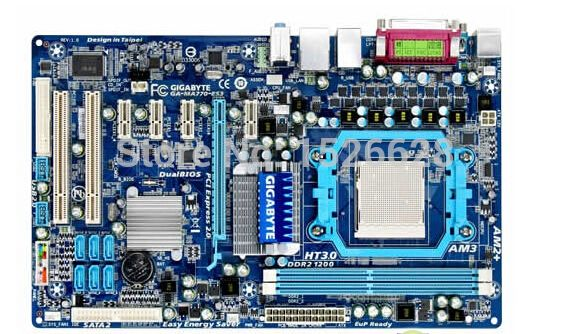 100% original Free shipping motherboard for Gigabyte GA-MA770-ES3 MA770-ES3 motherboard Solid-state power AM3 DDR2 free shipping