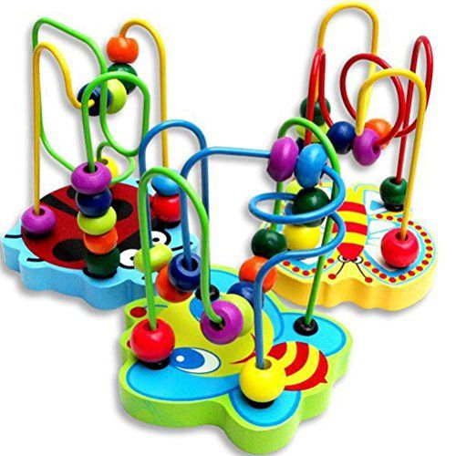 Usstore 1PC Kid children Baby Christmas Gift Colorful Wooden Mini Around Beads Educational Game Toy *** See this great product.Note:It is affiliate link to Amazon. #tagblender