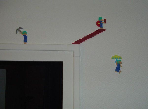 Hama Beads - Lemmings by ~acidezabs on deviantART