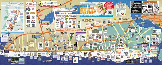Tourist map of Panama City Beach