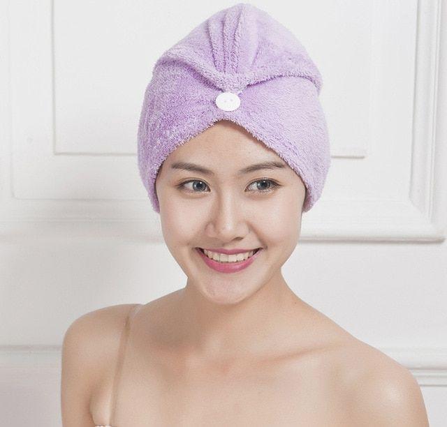 Microfibre Quick Dry Magic Hair Towel Twist Wrap Turban Head Hat Cap Bath Shower