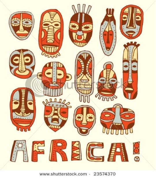African masks next i gave the students this handout to for African arts and crafts history