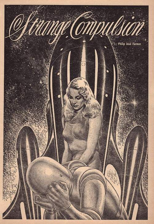 Illustrated space bondage fantasy