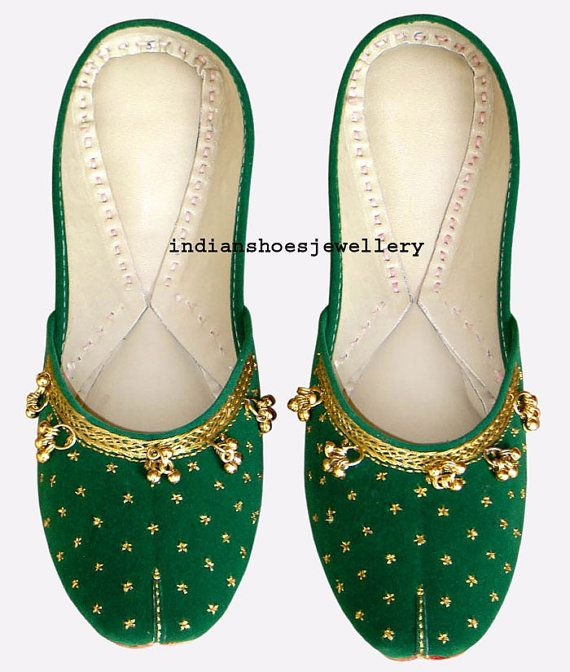 women shoes indian shoes khussa shoes flat by indianshoesjewellery, $40.00