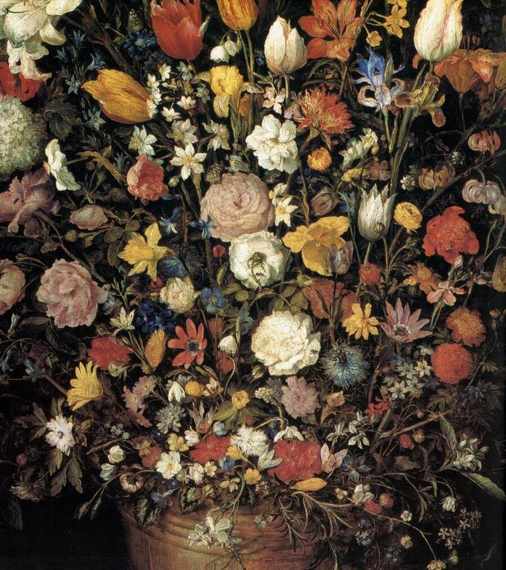 The Great Bouquet (detail) 1607 Oil on wood Kunsthistorisches Museum, Vienna