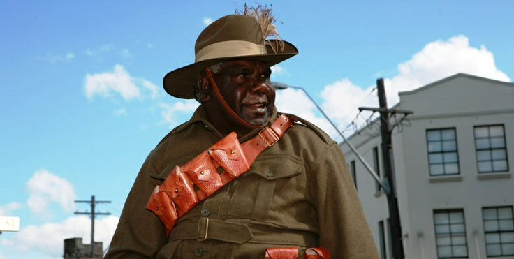 Ray Finn representing the Australian Light Horse at the Coloured Diggers Anzac march.