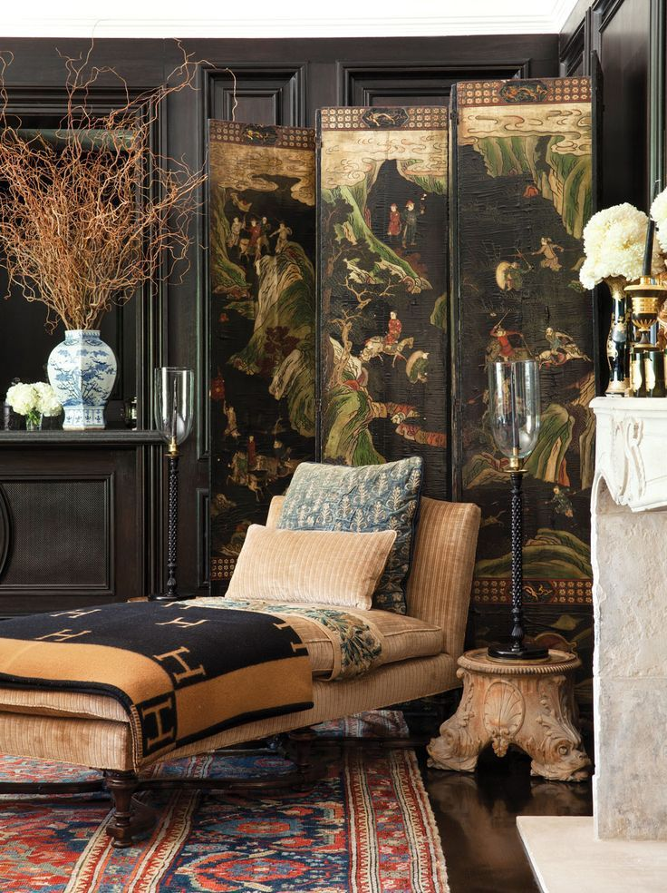 Decorating with oriental screens Belgian Pearls