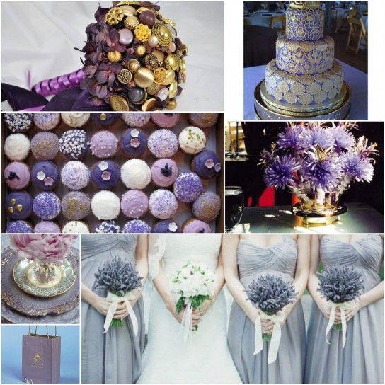 Torte nuziali lilla