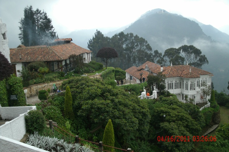 beautiful view of Monserrate mountain, Bogota, Colombia, 10,341 ft (3,152 meters) above sea level
