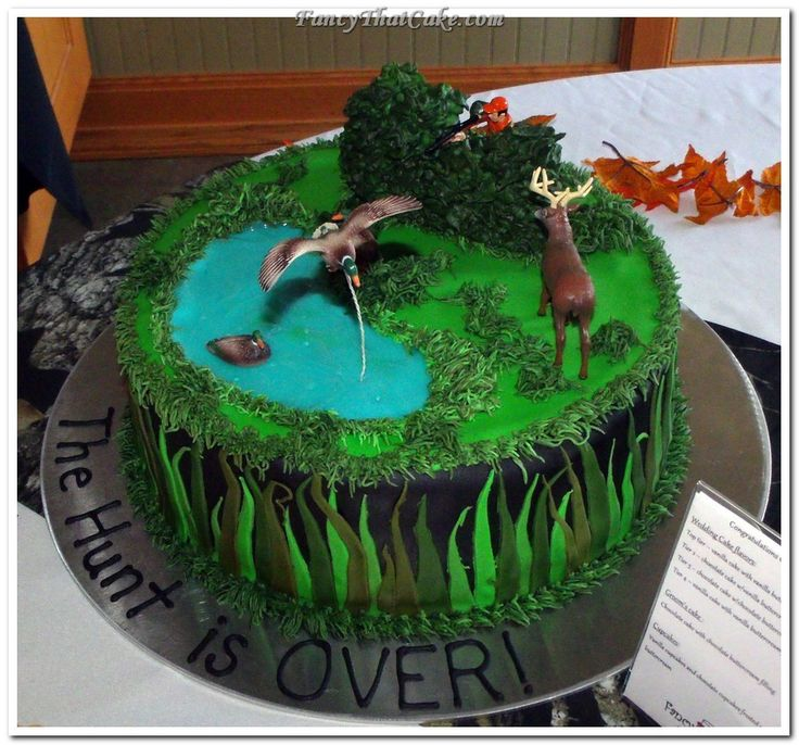 Hunting Scene Cake Decorations : Duck Hunting Grooms Cake Ideas wedding Pinterest