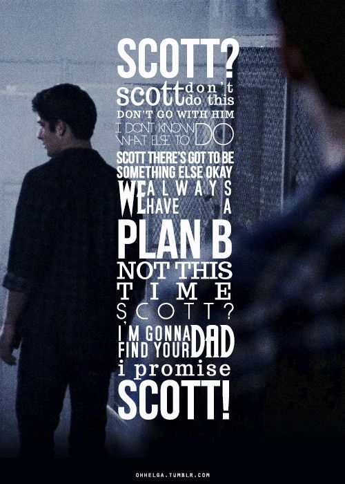 Stiles & Scott - The Overlooked. #teenwolf #typography