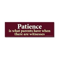 ...which is why, when no one's watching but the littlest eyes in my home, I can still choose patience. 2 Corinthians 9:8