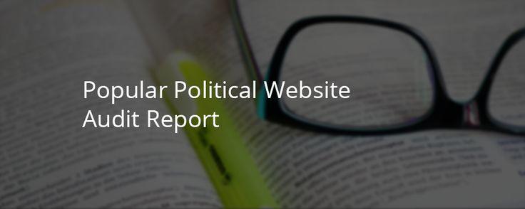 Popular Political Website Audit Report