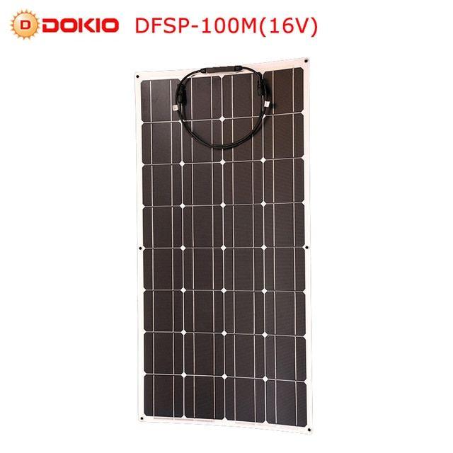 Dokio 12v 16v 100w Monocrystalline Flexible Solar Panel Portable 100w Panel Solar For Car Boat Home Panel S Solar Energy Solar Energy Panels Solar Power Panels