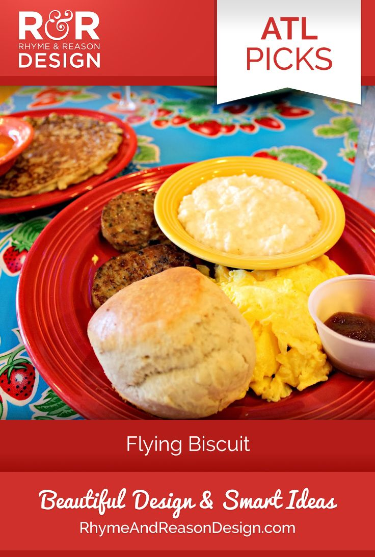 ATL Picks - Flying Biscuit - Rhyme and Reason Design - Everything on the menu is great. Fantastic in fact. We need to get that out of the way. The real truth is you honestly may not be able to handle how unbelievably scrumptious the biscuits really are. One word to describe them? Can't do it, we would need more words.