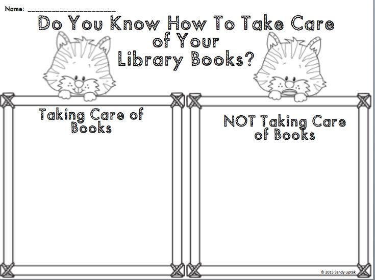 Another fun way to review book care at the beginning of the year.
