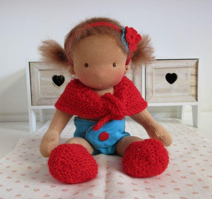 Waldorf inspired doll, little baby girl, 10 inch / 24 cm door Poppenina op Etsy