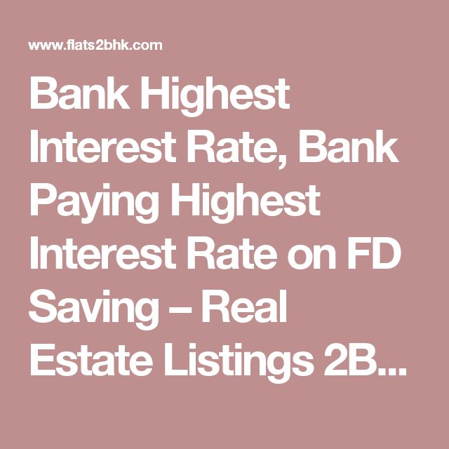 Top 10 Banks Fixed Deposit Interest Rates in India