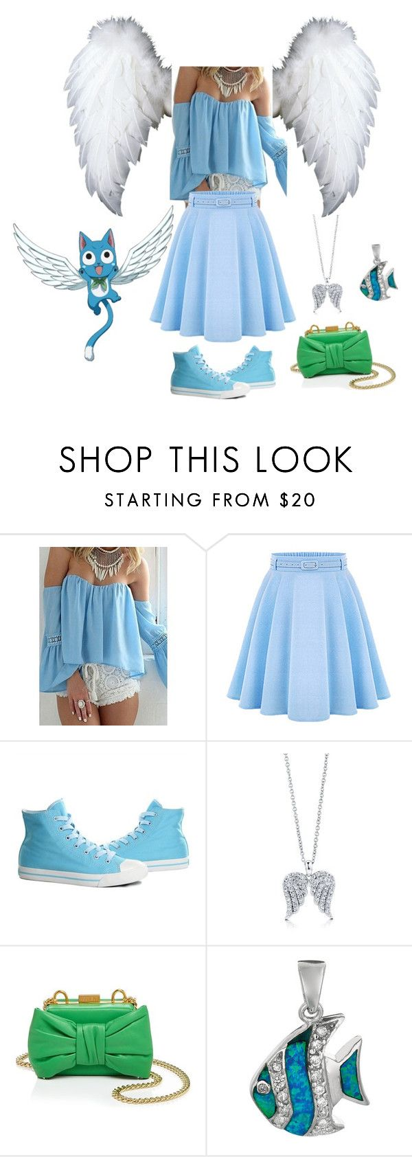 """""""Fairy Tail: Happy"""" by angle12345 ❤ liked on Polyvore featuring WithChic, Burnetie, BERRICLE, Boutique Moschino and BillyTheTree"""